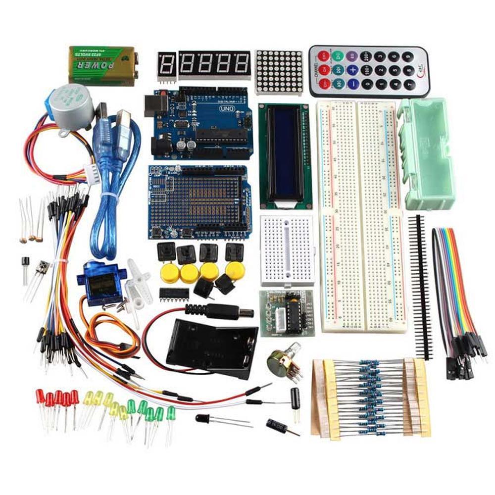R uno learning kit fr arduino w stepper motor servo