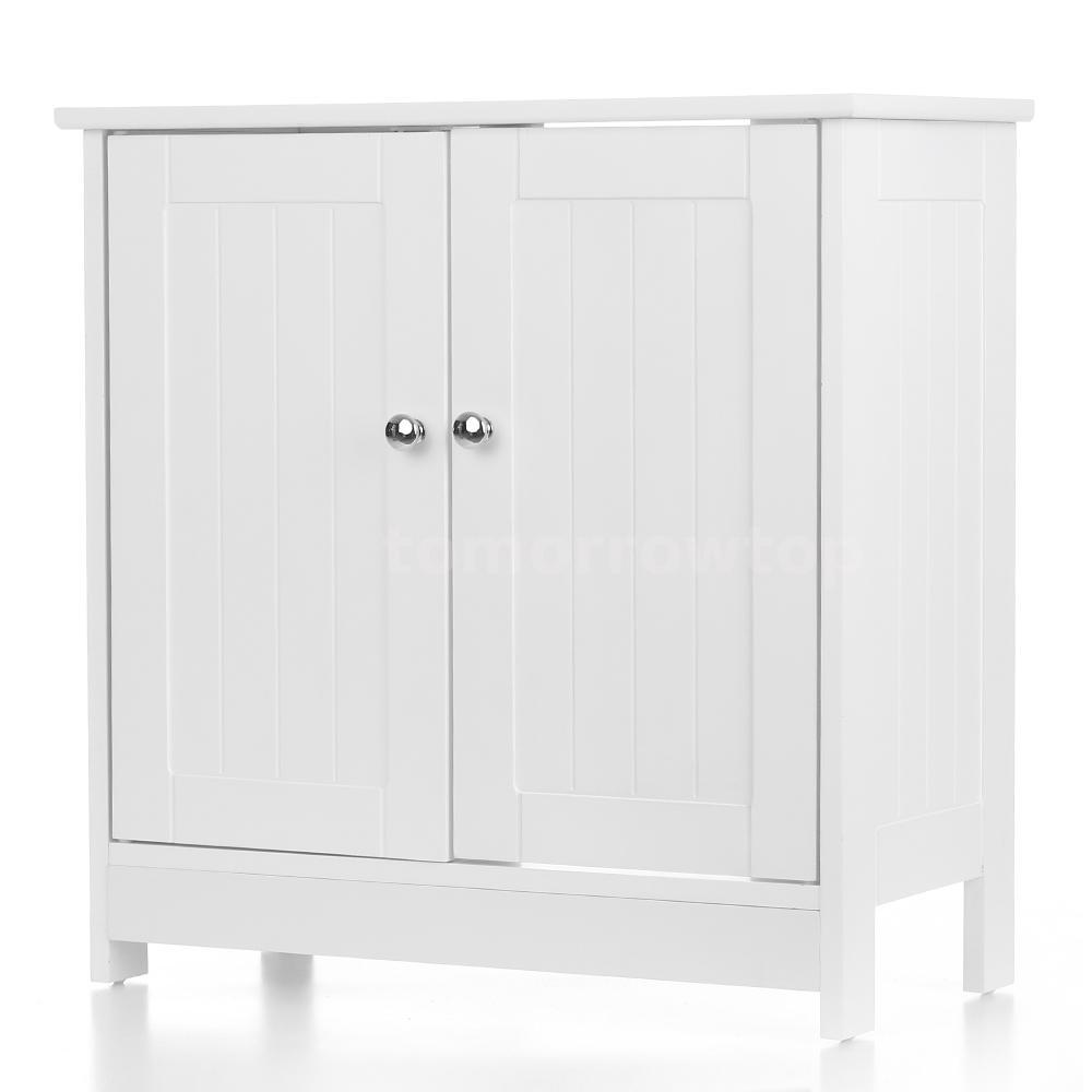 White Pedestal Under Sink Bathroom Storage Cabinet Organizer Caddy ...