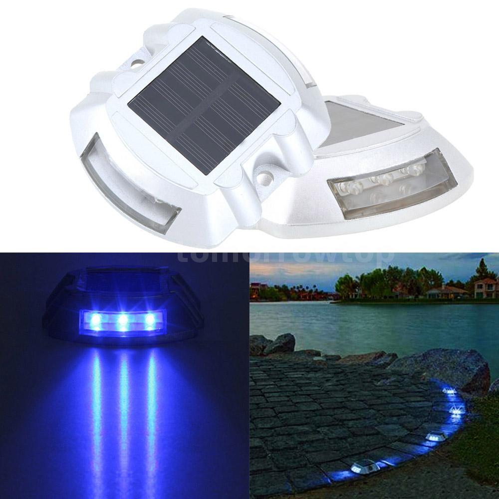 Led Driveway Lights High Illumination Solar Light Buy Blue: Solar Power LED Road Stud Light For Path Deck Dock