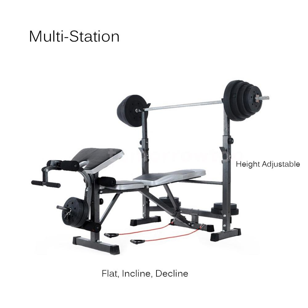 Tomshoo fitness exercise adjustable bench weight lifting