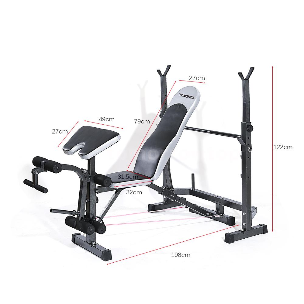 Tomshoo Fitness Exercise Adjustable Bench Weight Lifting Home Gym Equipment Ebay